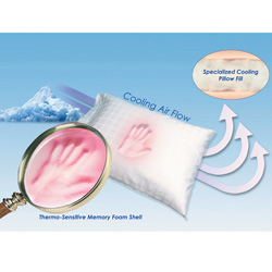 Silver Memory Plus Cool Pillow