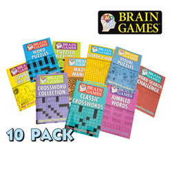 10-Pack Brain Games&nbsp;&nbsp;Model#&nbsp;3310800