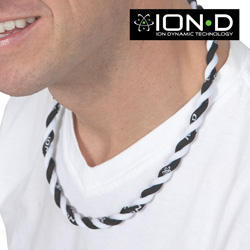 19.5 Inch Double Strand Ion Necklace  Model# BLACK/WHITE NECKLACE-DOUBLE