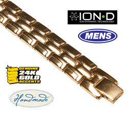 Ion-D Gold Bracelet&nbsp;&nbsp;Model#&nbsp;T301