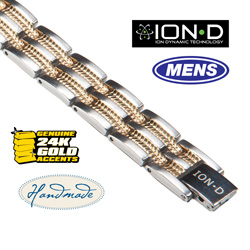 Ion-D Silver/Gold Bracelet&nbsp;&nbsp;Model#&nbsp;T351