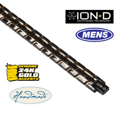 Ion-D Black/Gold Bracelet  Model# T006-1