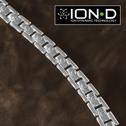 Ion D Titianium Bracelet - Silver&nbsp;&nbsp;Model#&nbsp;T90-1