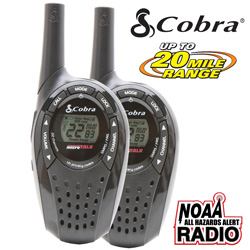 Pair of Cobra 20-Mile GMRS/FRS Radios  Model# CX210