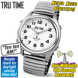 Tru Time Atomic Talking Watch  Model# 116629