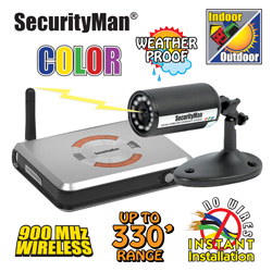 Wireless In/Outdoor Color Camera  Model# CUCAM1