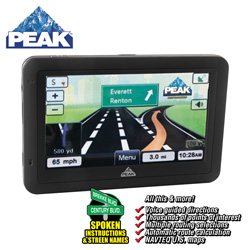 Peak 4.3 inch GPS&nbsp;&nbsp;Model#&nbsp;PKCOPA