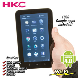 HKC 7 Inch Android 4.0 16GB Tablet&nbsp;&nbsp;Model#&nbsp;16GBLCO7740WT