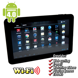 Android 4.0 Tablet - 10.1 inch  Model# ID1018WTA