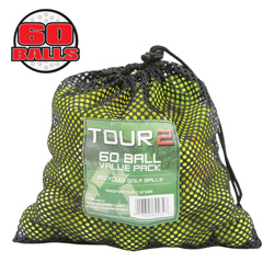 60-Pack Recycled Yellow Golf Balls  Model# STRL60MB