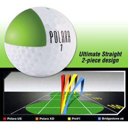 Polara Ultimate Straight Golf Balls - 1 Dozen  Model# ULTIMATE STRAIGHT