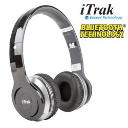 iTrak Bluetooth Wireless Headphones  Model# BT550-BLACK