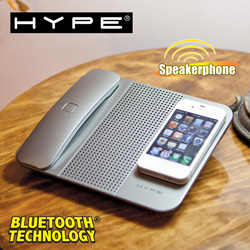 Cordless Bluetooth Handset Speaker&nbsp;&nbsp;Model#&nbsp;HY-100-SLV