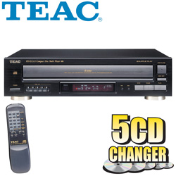 Teac 5 Disc CD Changer With Remote Control  Model# PD-D2610