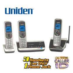 Uniden 3 Handset Long Range Phone System  Model# DECT3380-3