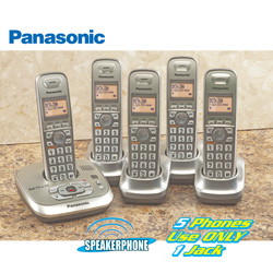 Panasonic 5-Handset Phone System&nbsp;&nbsp;Model#&nbsp;KX-T4025N