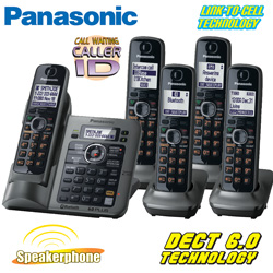 Panasonic Link-To-Cell Phone System  Model# KX-TG7645M/KXTG155SK