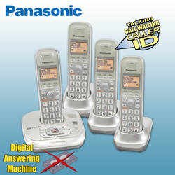 Panasonic 4-Handset Phone System  Model# KX-TG4034N