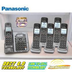 Panasonic 6 Handset Phone System  Model# KX-TG156