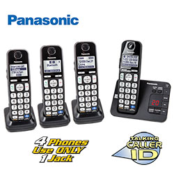 Panasonic 4-Handset Phone System  Model# KX-TG4744B