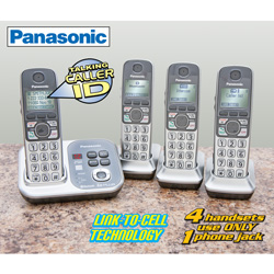 Panasonic 4-Handset Link-To-Cell Phone System  Model# KX-TG7734S