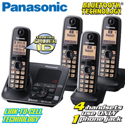 Panasonic 4-Handset Link2Cell  Model# KX-TG7624