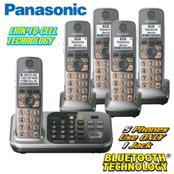 Panasonic Link-2-Cell 5 Handset Phone System  Model# KX-TG7745S