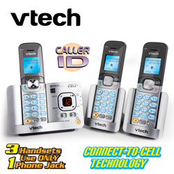 V-Tech 3-Handset Phone System  Model# DS6522-32