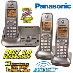 Panasonic 3-Handset Phone System  Model# KX-TG4133M