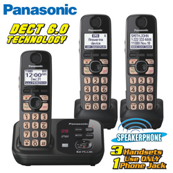 Panasonic 3-Handset Phone System  Model# KX-TG4733B