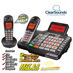 Amplified DECT 6.0 Phone System&nbsp;&nbsp;Model#&nbsp;A1600BUN-FG