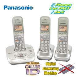 Panasonic 3 Handset Phone System  Model# KX-TG4023N