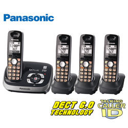 4-Handset Phone with Taking Call ID Phone  Model# KX-TG6534