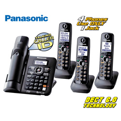 Panasonic 4-Handset with Dual Keypad&nbsp;&nbsp;Model#&nbsp;KX-TG6644
