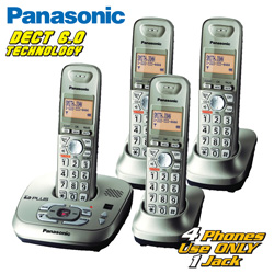 Panasonic DECT 6.0 4-Handst Phone System&nbsp;&nbsp;Model#&nbsp;KX-TG4024N