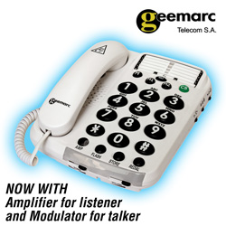 Amplified Phone with Voice Modulation  Model# AMPLI100VM