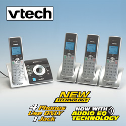 V-Tech DECT 6.0 4 Handset Phone System  Model# LS6325-4
