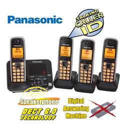 Panasonic 4-Handset with Link 2 Cell  Model# KX-TG624SK