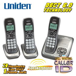 Uniden DECT 6.0 3-Handset System&nbsp;&nbsp;Model#&nbsp;DCT14803AM