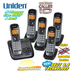Uniden DECT 6.0 5 Handset System&nbsp;&nbsp;Model#&nbsp;DECT1480-5