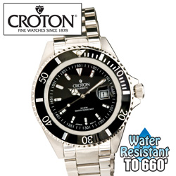 Black Croton Sport Divers Watch&nbsp;&nbsp;Model#&nbsp;CA301157BKBK