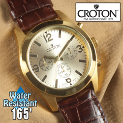 Croton Chronograph Watch  Model# CC311306BRCH