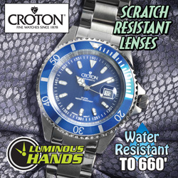 Croton Sport Blue Divers Watch  Model# CA301157BUBL