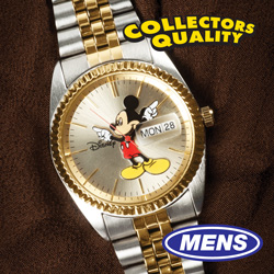 Mens 2-Tone Mickey Mouse Watch  Model# MCK339