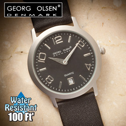 Georg Olsen Black Dial Watch  Model# G1109A