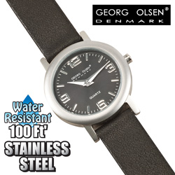 Womens Georg Olsen Black Watch  Model# L1103B