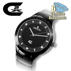 Mens 6 Diamond Watch  Model# CS328018BKBD