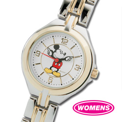 Mickey Mouse Two-Tone Gold Watch - Womens  Model# MCK167