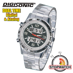 DigiSonic Analog/Digital Watch - Silver  Model# 8379-SS