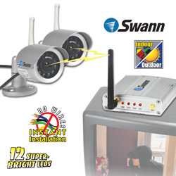 Swann 2-Pack Indoor/Outdoor Cameras&nbsp;&nbsp;Model#&nbsp;SW233-W02